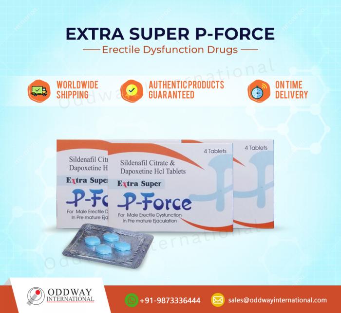 Extra Super P-Force 200 mg – Sildenafil + Dapoxetine Brands