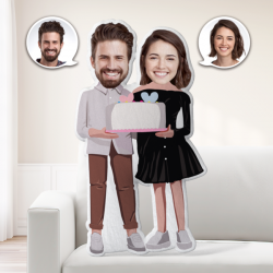 Anniversary Gifts Custom MiniMe Pillow Personalized Couple Pillow Unique Photo Pillow Birthday Gifts