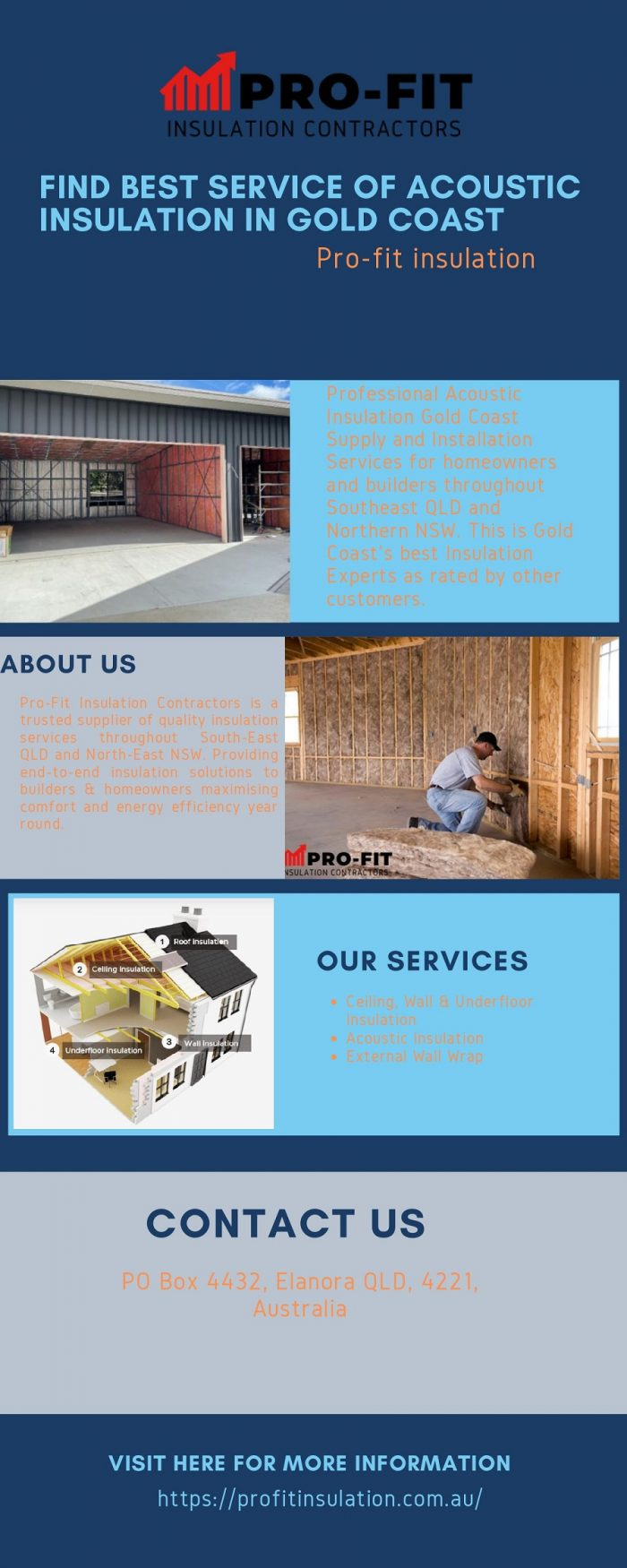 Find Best Service of Acoustic Insulation in Gold Coast