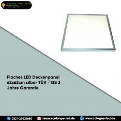Flaches LED Deckenpanel 62x62cm silber TÜV / GS 3 Jahre Garantie