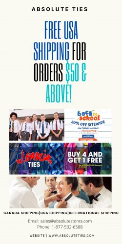FREE USA SHIPPING FOR ORDERS $50 & ABOVE! -Offers on Jerry Garcia ties and school ties