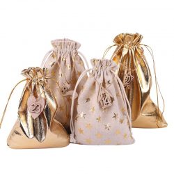 Christmas Treat Bags With Drawstring