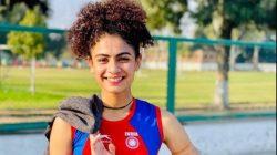 Runner Harmilan Bains set a new national record