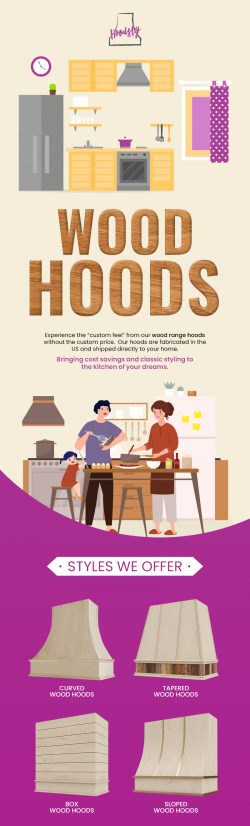 Buy Customized Range Wood Hoods made of finest Quality Material from Hoodsly