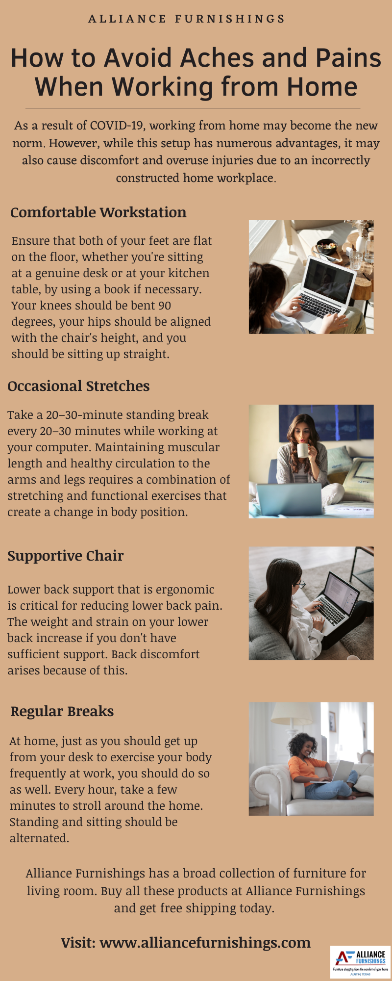 How to Avoid Aches and Pains When Working from Home