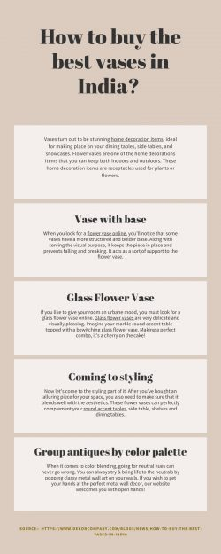 How to buy the best vases in India?
