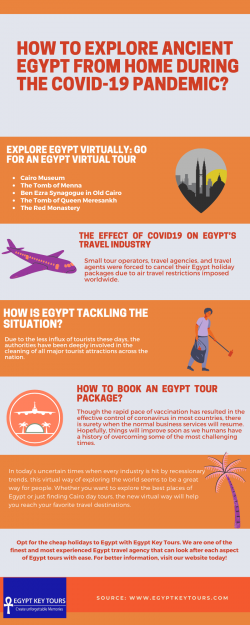 How to Explore Ancient Egypt From Home During the COVID-19 Pandemic?