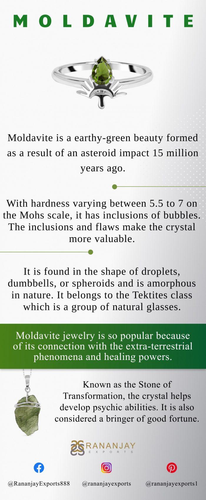 About Moldavite Jewelry