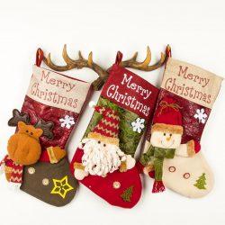 Large 3D Christmas Stockings (2pcs)