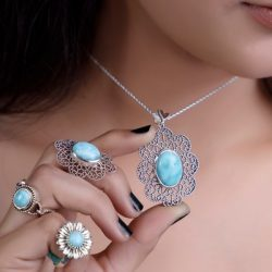 Sterling Silver Larimar Jewelry at Best Wholesale Prices