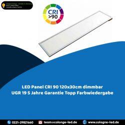 LED Panel CRI 90 120x30cm dimmbar UGR 19 5 Jahre Garantie Topp Farbwiedergabe