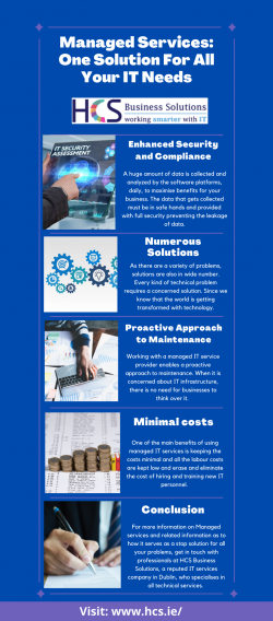 Managed Services: One Solution For All Your IT Needs