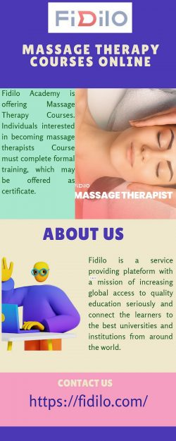 Massage Therapy Courses Online