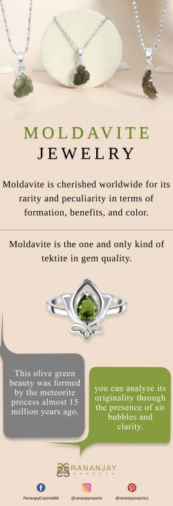 Genuine Wholesale Sterling Silver Moldavite Jewelry