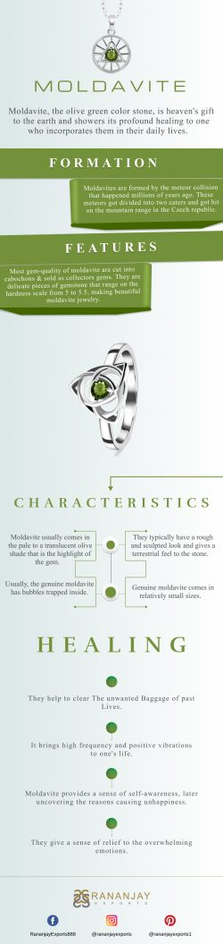 Genuine Sterling Silver Moldavite Jewelry