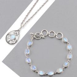 Real Wholesale Sterling Silver Moonstone Jewelry
