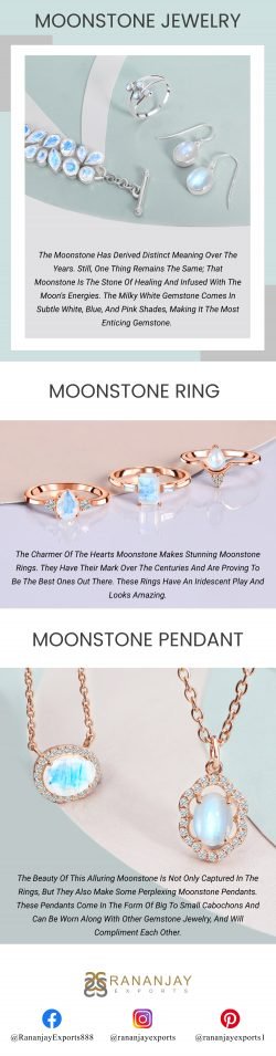 Buy Moonstone Jewelry Online in Wholesale Price at Rananjay Exports