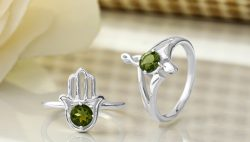 Silver Moldavite Jewelry at wholesale price by Rananjay Exports