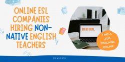 Online Teaching Jobs for Non Natives