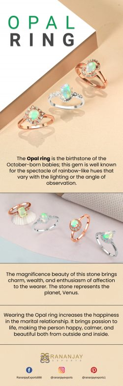 Beautiful Golden Opal Ring at Best Price.