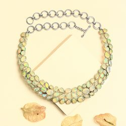 Buy online Natural Silver Opal Jewelry at Factory Price