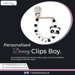 Personalised Dummy Clips Boy