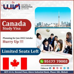 Planning for Jan 2022 intake for Canada Study