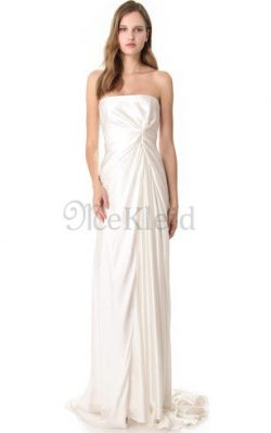 Bodenlanges Anständiges Brautkleid mit Offenen Rücken