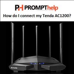 How do I connect my Tenda AC1200?