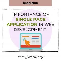 Vlad Nov — Importance of Single Page Application in Web Development
