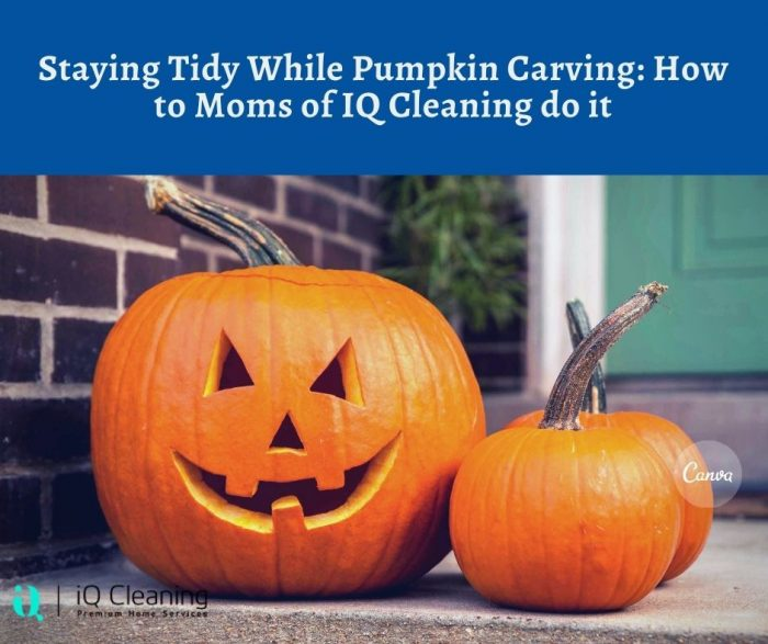 Staying Tidy While Pumpkin Carving: How to Moms of IQ Cleaning do it