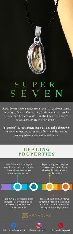 Genuine Super Seven Stone Jewelry