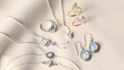 Natural Sterling Silver Moonstone Jewelry Collection