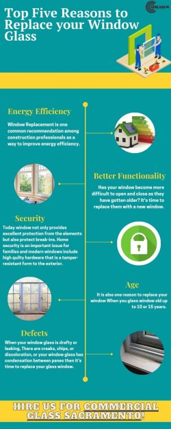 Top Five Reasons to Replace your Window Glass