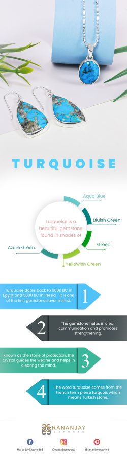 Turquoise Is A Beautiful Gemstone Found In Shades Of Different Colors