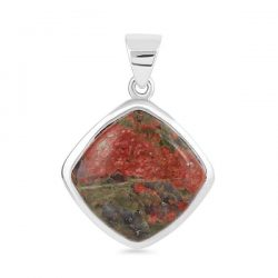 Sterling Silver Gemstone Unakite Jewelry Collection.