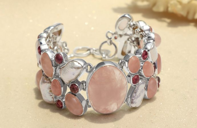 Handmade Natural Rose Quartz Jewelry