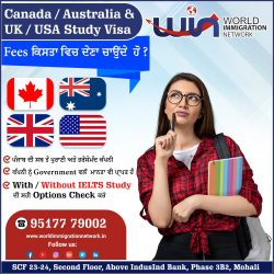 Canada / Australia / UK / USA Study Visa