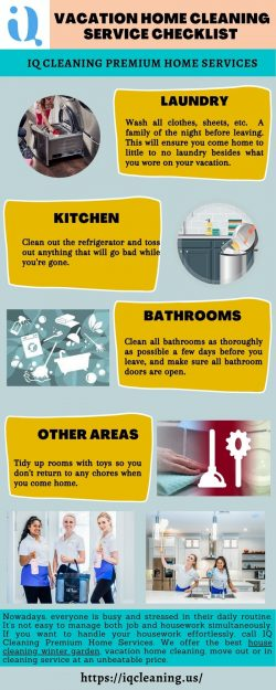 Vacation Home Cleaning Service Checklist