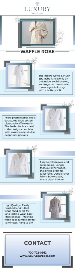 Stylish waffle robes for you at