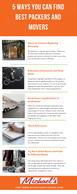 5 Ways You Can Find Best Packers and Movers