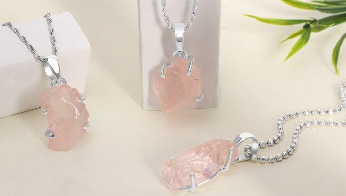 Handmade Natural Rose Quartz Jewelry at Manufacturer Price.