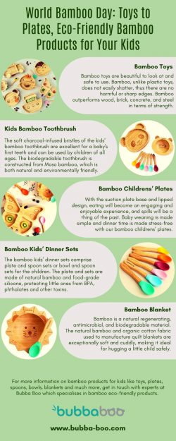 World Bamboo Day: Toys to Plates, Eco-Friendly Bamboo Products for Your Kids