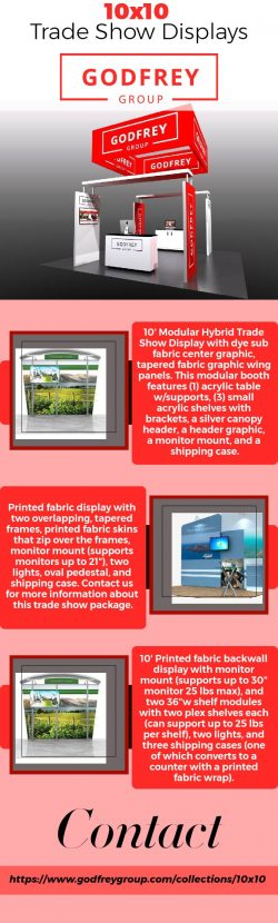 10×10 Trade Show Displays – Godfrey Group