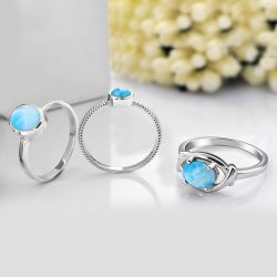 The Beautiful Collection Of Larimar Rings | Rananjay Exports