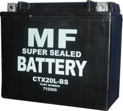 Victory Jackpot 1731cc CTX20L-BS YTX20L-BS Motorcycle battery 2010