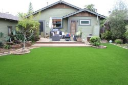 Commercial fake grass installation