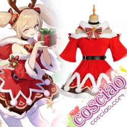 原神 げんしん バーバラ クリスマス コスプレ衣装 コスチューム 演出服 サンタ服 変装 仮装