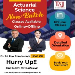 Why Actuarial Science? Dial +09910427442 To Know More
