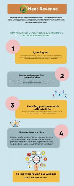 10 Common Affiliate Marketing Blunders | Neat Revenue